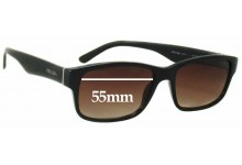 Prada VPR16M Replacement Sunglass Lenses - 55mm wide