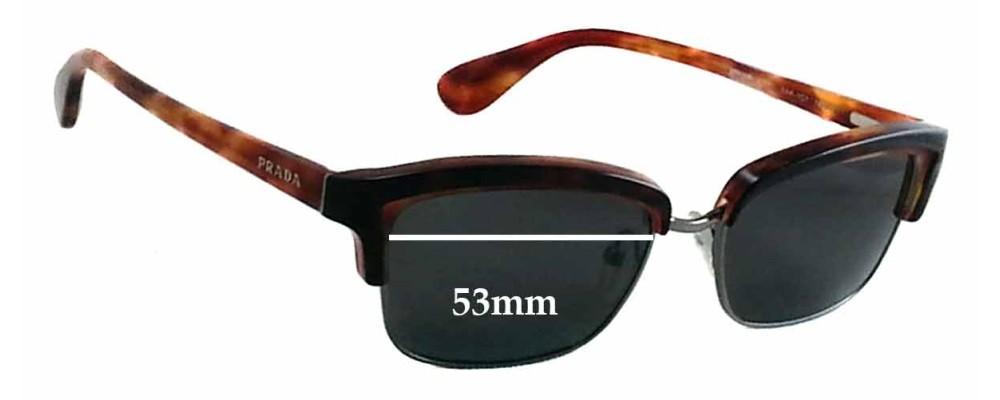 Prada VPR21P Replacement Sunglass Lenses - 53mm wide