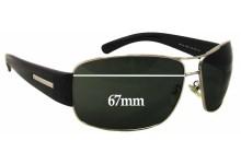 Prada SPR61G Replacement Sunglass Lenses - 67mm Wide