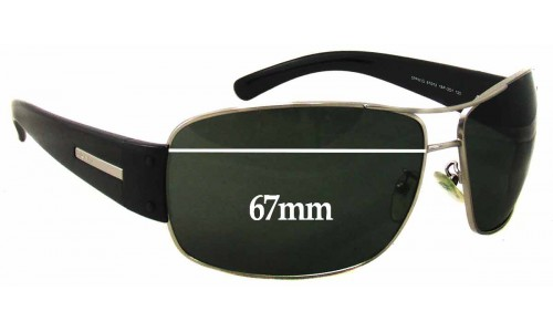 Sunglass Fix Replacement Lenses for Prada SPR61G - 67mm Wide