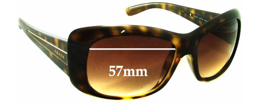 Prada SPR04L Replacement Sunglass Lenses - 57mm wide