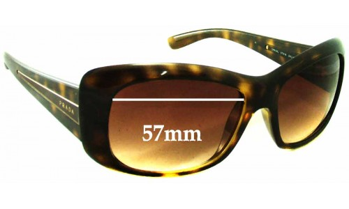 Prada SPR04L Replacement Sunglass Lenses - 57mm wide