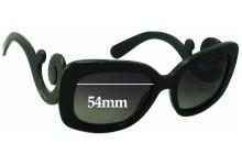 Prada SPR 27O Replacement Sunglass Lenses - 54mm wide