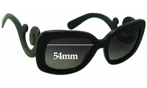Prada SPR 27O Replacement Sunglass Lenses - 54mm wide