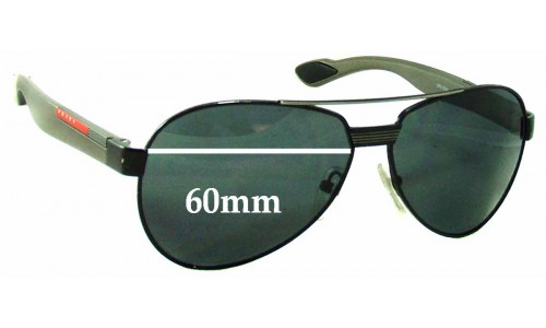 Prada SPS55M Replacement Sunglass Lenses - 60mm wide