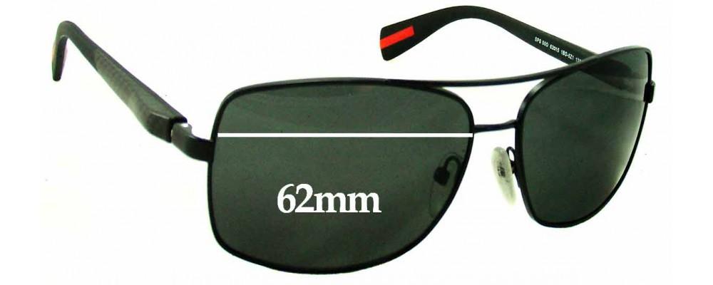 911362ecb8e26 Prada SPS50o Replacement Lenses 62mm by The Sunglass Fix®