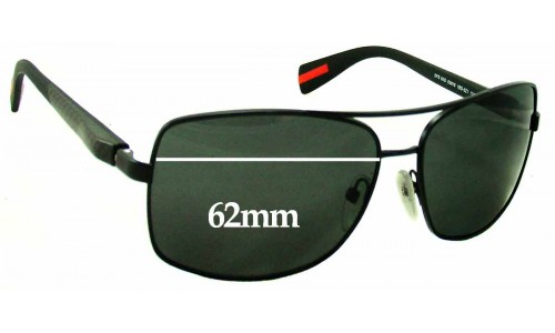 Prada SPS50o Replacement Sunglass Lenses - 62mm wide