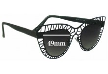 Sunglass Fix New Replacement Lenses for Quay Australia Steel Cat - 49mm Wide