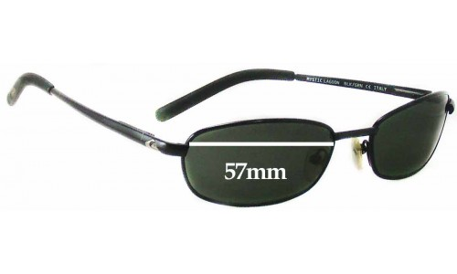 Quiksilver Mystic Lagoon QS1028 Replacement Sunglass Lenses - 57mm Wide