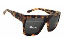 Quiksilver Velvet Skull Machina Replacement Sunglass Lenses - 57mm wide x 45mm tall