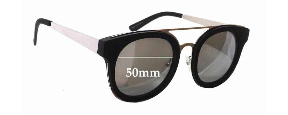 Quay Australia Brooklyn New Sunglass Lenses - 50mm wide