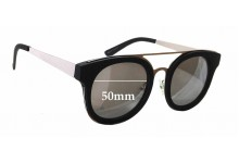 Quay Australia Brooklyn New Sunglass Lenses - 50mm wide