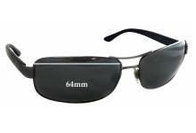 Ralph Lauren Polo PH3070 Replacement Sunglass Lenses - 64mm wide - 43mm tall