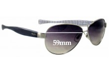 Ralph Lauren RA 4096 Replacement Sunglass Lenses - 59mm wide