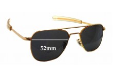 Randolph Engineering Aviator RE 5 1/2 Replacement Sunglass Lenses - 52mm wide