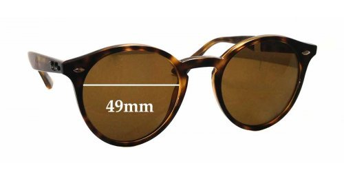 1d5a83ecc9 Ray Ban RB2180 Replacement Sunglass Lenses - 49mm wide