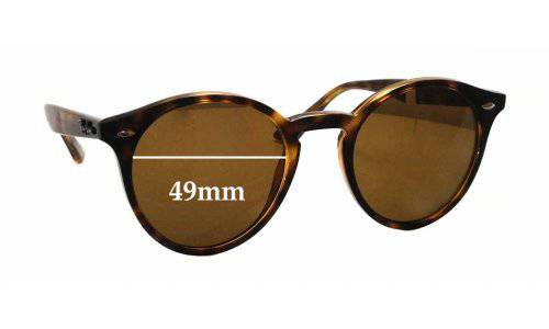 Sunglass Fix Replacement Lenses for Ray Ban RB2180 - 49mm wide