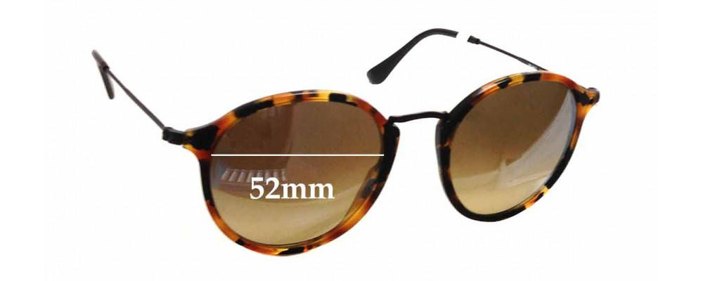 Ray Ban RB2447 Replacement Sunglass Lenses - 52mm wide