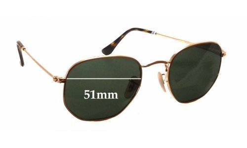 Ray Ban RB3548 Replacement Sunglass Lenses - 51mm wide