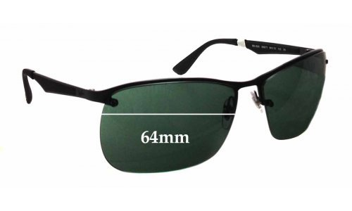 Ray Ban RB3550 Replacement Sunglass Lenses - 64mm wide