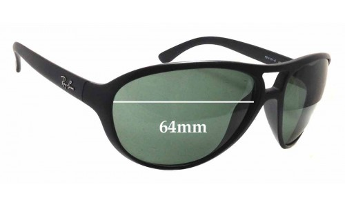 Ray Ban RB 4157-E Replacement Sunglass Lenses - 64mm wide