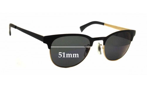 Ray Ban 6317 Replacement Sunglass Lenses RB6317 - 51mm wide x 40.5mm tall