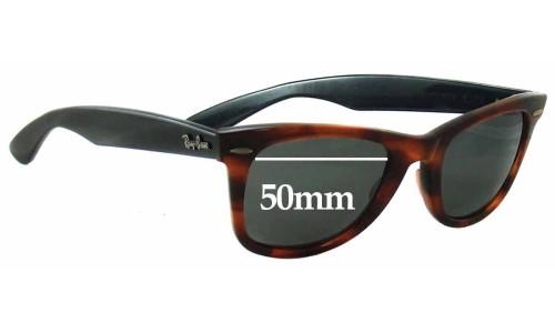 Sunglass Fix Replacement Lenses for Ray Ban Bausch Lomb W1903 Wayfarer Elite - 50mm wide