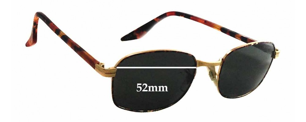 Sunglass Fix Replacement Lenses for Ray Ban W2190 Bausch Lomb - 52mm wide