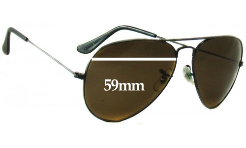 Sunglass Fix Replacement Lenses for Ray Ban B&L Aviators L2823 - 59mm wide