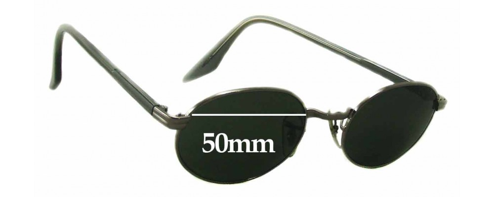 Sunglass Fix Replacement Lenses for Ray Ban Bausch Lomb W2896 - 50mm Wide