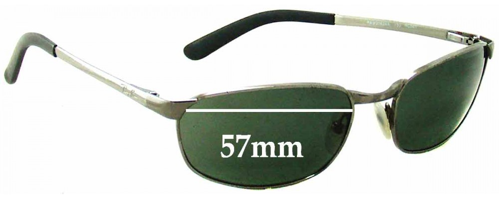 Ray Ban RAM2062AA Replacement Sunglass Lenses - 57mm wide X 34mm tall