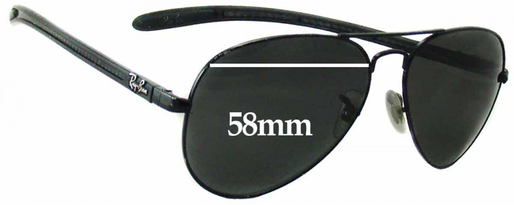 Ray Ban RAM4271AC Replacement Sunglass Lenses - 58mm wide