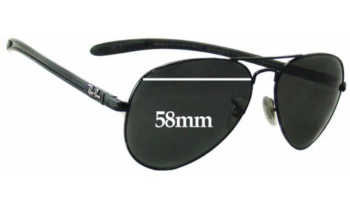 Ray Ban RAM4271AC Sunglass Replacement Lenses - 58mm wide
