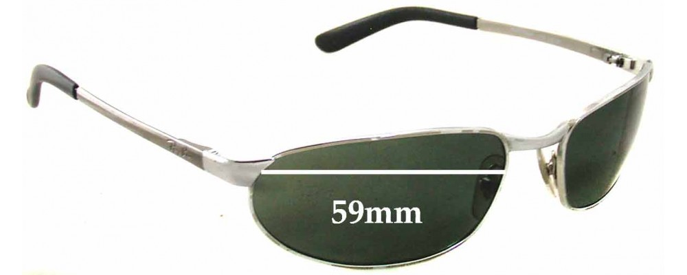 Ray Ban RAM2062AA Replacement Sunglass Lenses - 59mm wide x 32mm tall