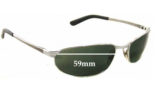 Ray Ban RAM2062AA Sunglass Replacement Lenses - 59mm wide x 32mm tall