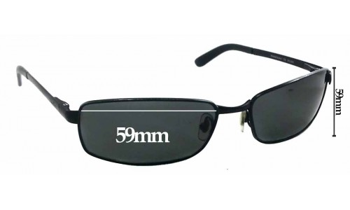 Ray Ban RAM2062AA Replacement Sunglass Lenses - 59mm wide x 33mm tall