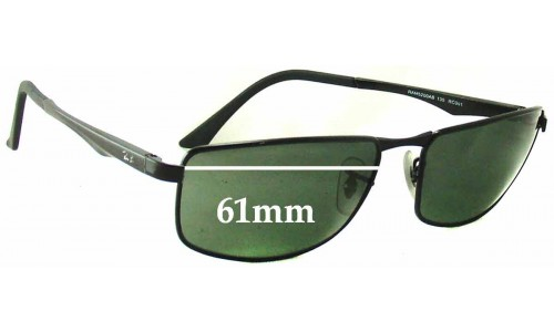 Ray Ban RAM 5200AB Replacement Sunglass Lenses - 61mm Wide