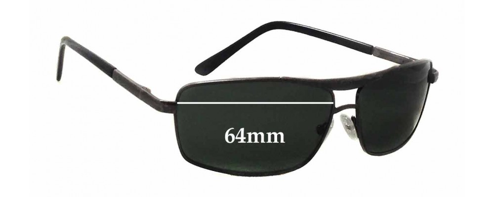 Ray Ban Metal Frame Replacement Sunglass Lenses - 64mm wide x 37mm tall