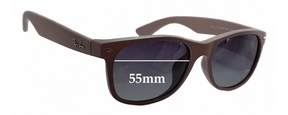 ab269018ca1 Ray Ban RB2132-F New Wayfarer Replacement Lenses - 55mm wide ...