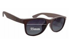 Sunglass Fix Replacement Lenses for Ray Ban New Wayfarer RB2132-F - 55mm Wide