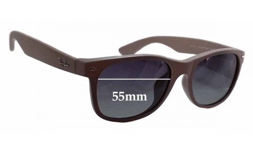 Sunglass Fix Replacement Lenses for Ray Ban RB2132-F New Wayfarer - 55mm wide
