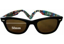 Ray Ban RB2140 Special Series 10 Wayfarer Replacement Sunglass Lenses - 50mm wide