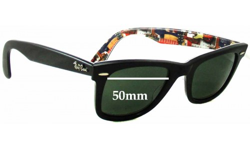 Ray Ban RB2140 Special Series 9 Music Wayfarer Replacement Sunglass Lenses - 50mm wide