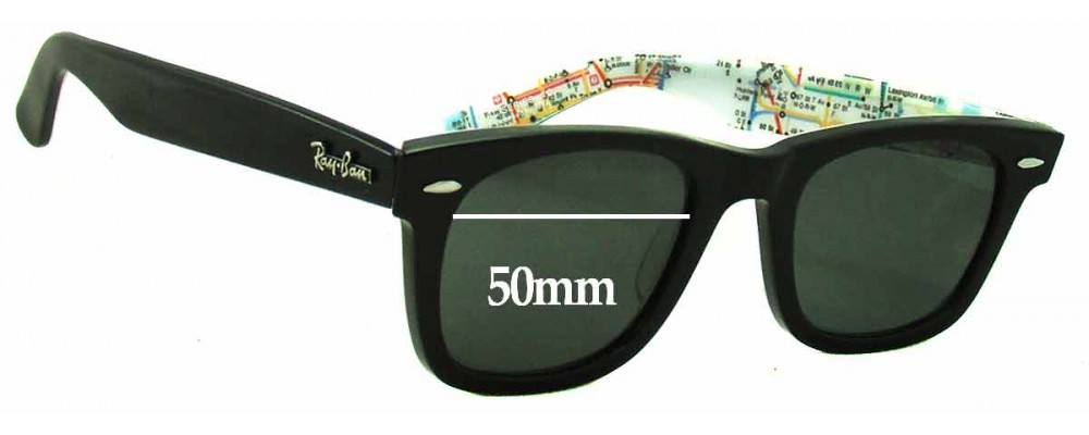 Ray Ban RB2140 Special Series 2 Wayfarer Replacement Sunglass Lenses - 50mm wide