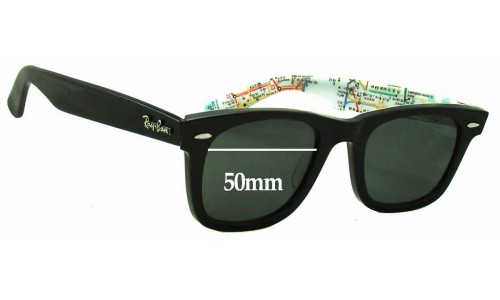 Sunglass Fix Replacement Lenses for Ray Ban RB2140 Special Series 2 Wayfarer - 50mm wide