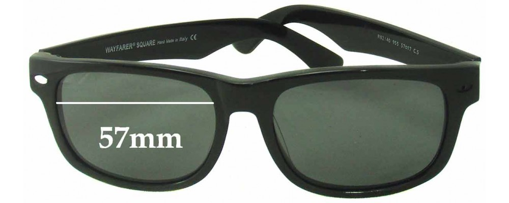 7d8bae6ff0825 usa ray ban rb2140 wayfarer square replacement sunglass lenses 57mm wide  bb6af 1c544