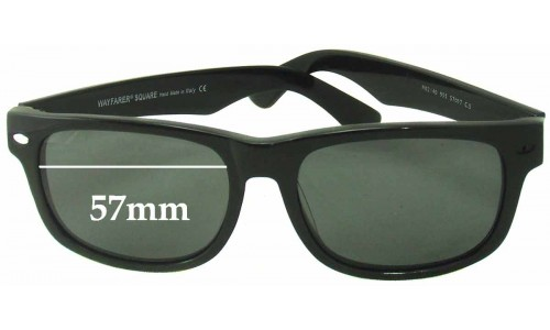 Ray Ban RB2140 Wayfarer Square Replacement Sunglass Lenses - 57mm wide