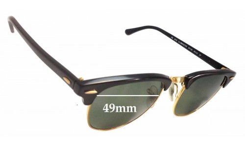 Ray Ban RB3016 Clubmaster Replacement Sunglass Lenses - 49mm Wide