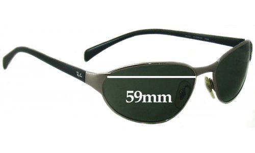 Ray Ban RB3101 Replacement Sunglass Lenses - 59mm wide