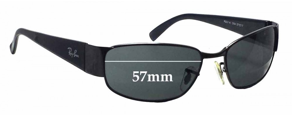 203340b503 Ray Ban RB3141 Replacement Lenses - 57mm wide